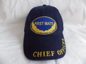 UNITED STATES NAVY FIRST MATE / CHIEF OFFICER EMBROIDERED BASEBALL CAP